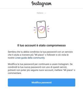 Azione bloccata per Instagram