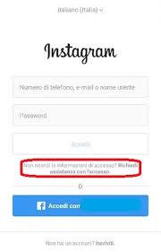 come recuperare un account instagram 2