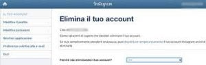 come cancellare account Instagram 2