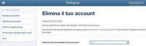 come disattivare un profilo Instagram 2
