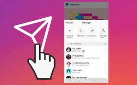 comment partager un lien sur Instagram