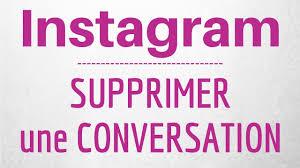 comment supprimer une conversation Instagram pour les 2 personnes