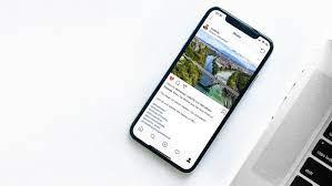 comment aller a la ligne sur Instagram avec un iPhone 4